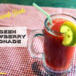 Frozen strawberry lemonade is slushy twist on a summertime favorite. Kids and adults alike will love it.