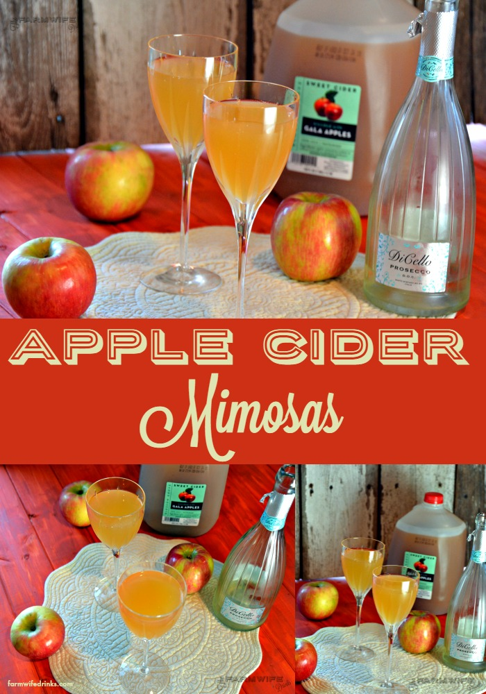 The apple cider mimosas are an easy to make fall version of the brunch favorite.