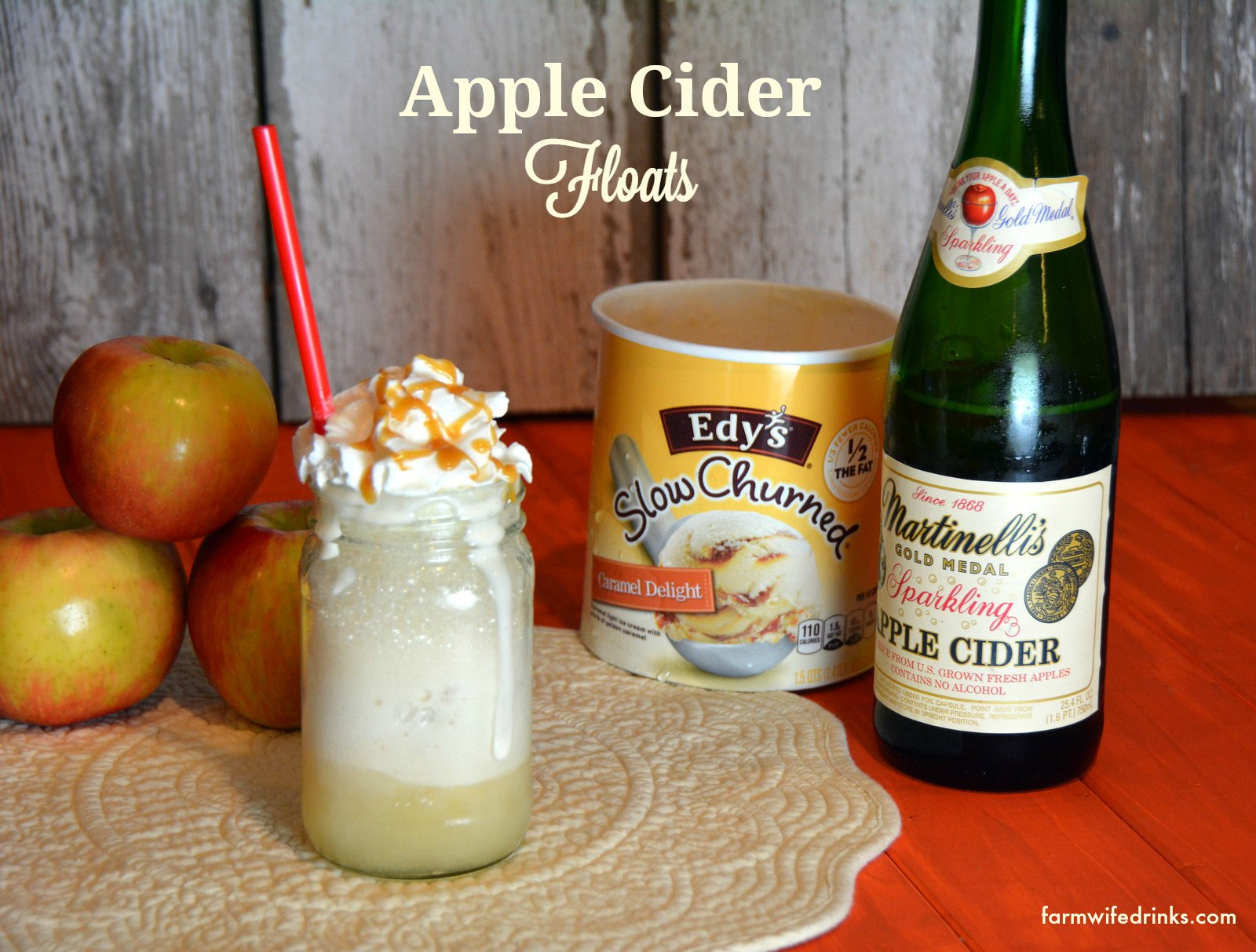 Apple Cider Floats - The Farmwife Drinks