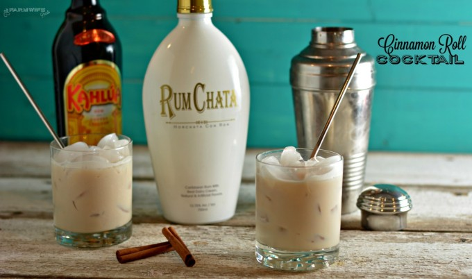 This cinnamon roll cocktail has two ingredients and tastes as good as a cinnamon roll.