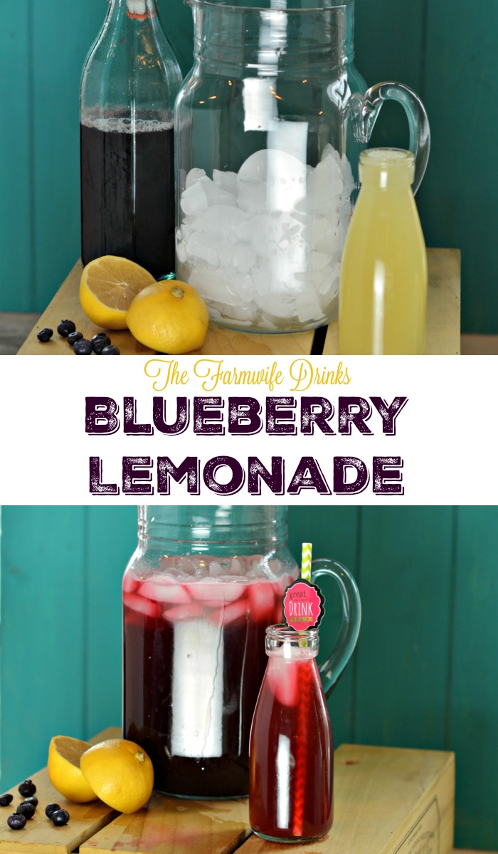With the help of a blueberry simple syrup, this Farmwife's Blueberry lemonade recipe is the perfect combination of flavors on a hot summer day.