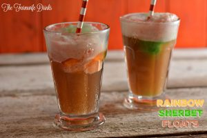 Rainbow Sherbet Floats