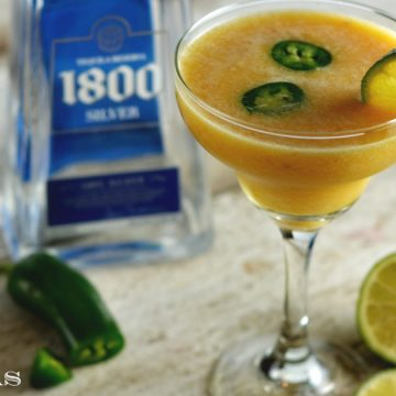 Frozen peach margaritas are the perfect drink for a hot summer day or a girl's night in.
