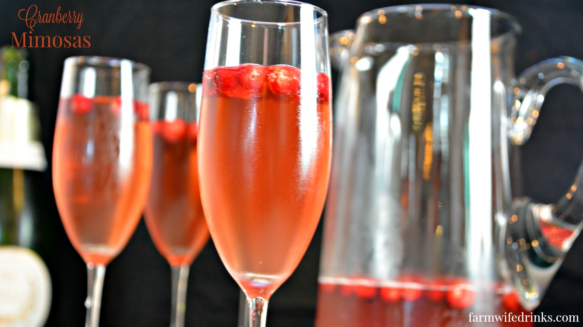 Cranberry Mimosas The Farmwife Drinks
