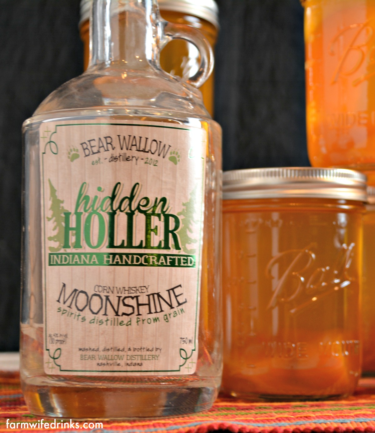 Hidden Holler Corn Whiskey Moonshine Made with the first legal still in Brown County, Hidden Holler Moonshine is typical of the kind of whiskey that is known to have been made in southern Indiana illegally since the late 1700's. This handcrafted whiskey is made from Indiana Corn and is an historically accurate example of what the best local farmer/distillers would produce. In the history of Moonshining in Brown County we found a description of a Moonshiner being pursued by the law, and it says,