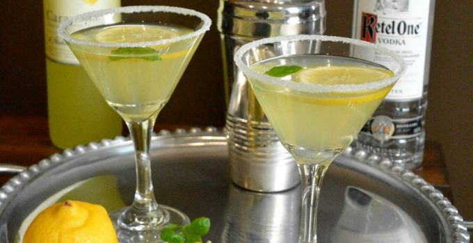 Lemon Drop Martini with Limoncello