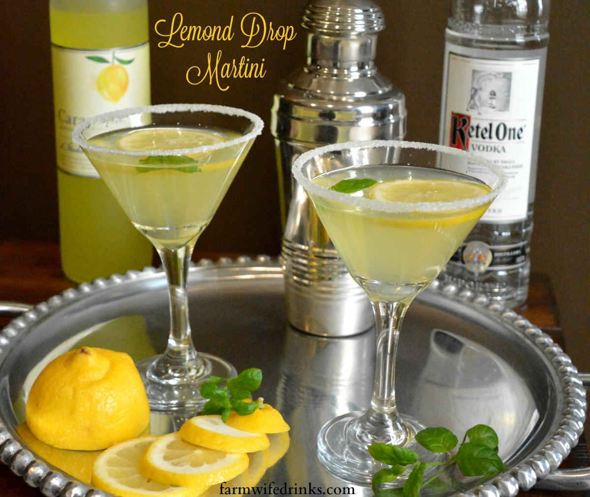 Lemon drop martini with limoncello the farmwife drinks for How to make martini cocktail