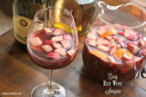 This easy red wine sangria recipe can be made quick and sure to be a great drink for entertaining.