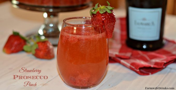 Strawberry Prosecco Punch