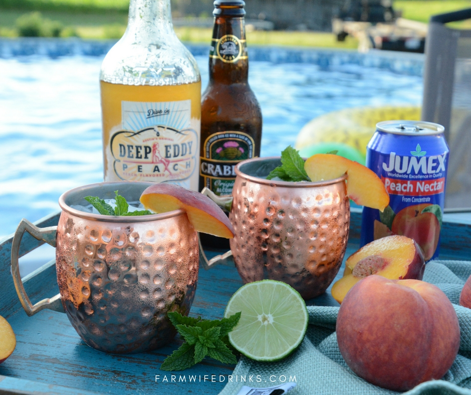 ... this Peach Moscow Mule recipe one of my favorite summer cocktails