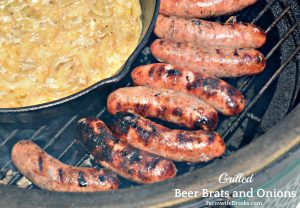 Grilled Beer Brats in Beer Hot Tub