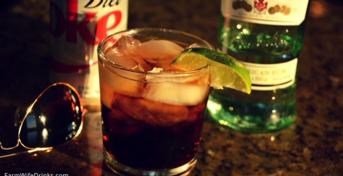 Bacardi Rum and Diet Coke