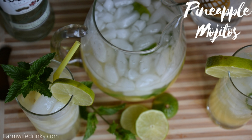 The sweetness of pineapple juice is a great combination with a traditional mojito to make some mighty tasty pineapple mojitos.