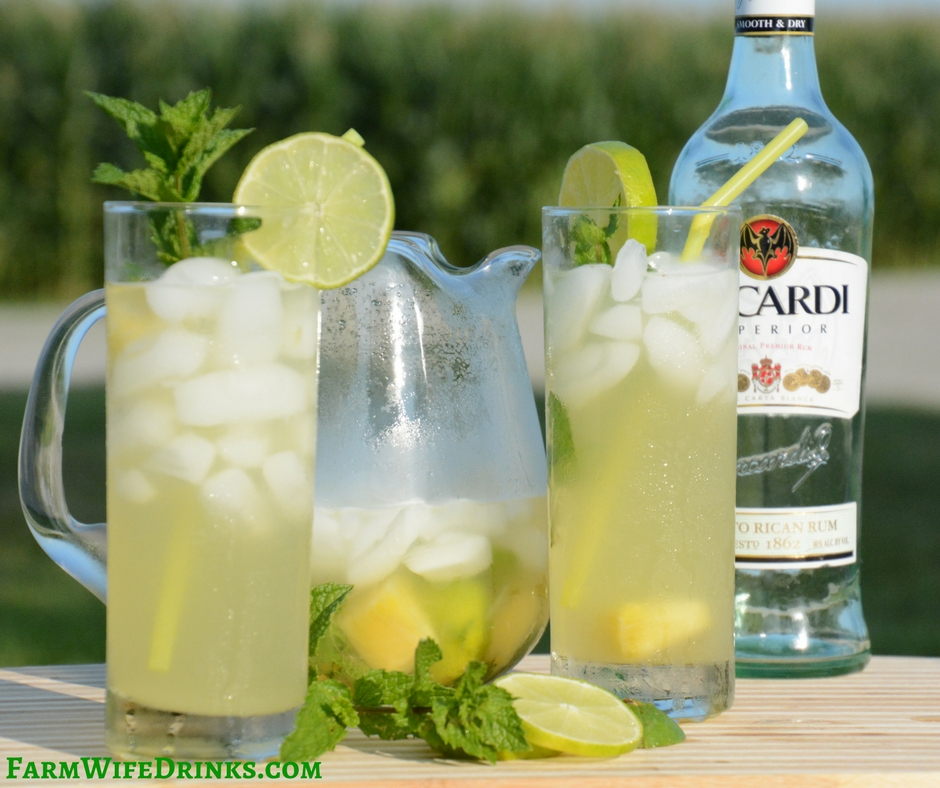 Pineapple Mojitos By The Pitcher