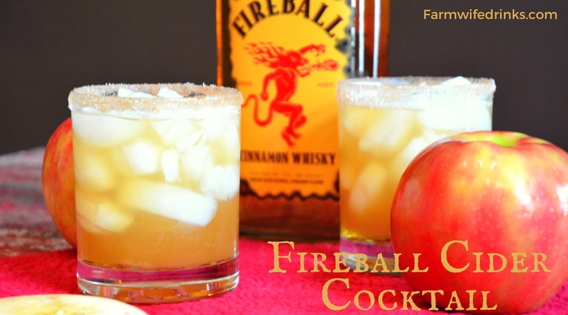 Just like apples and cinnamon are flavor partners so are Fireball Whiskey and Apple cider in this Fireball Cider Cocktail.