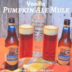The combination of a pumpkin ale with vanilla vodka in a caramel and cinnamon sugar rim was a brilliant combination for this vanilla pumpkin ale mule.