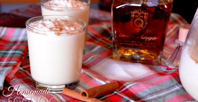 Homemade Eggnog Spiked with Don Q Gran Anejo Rum