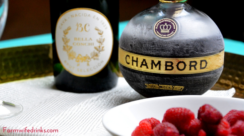 The combination of Chambord and Champagne in this French Mimosa will fancy up your morning brunch or be a perfect pre-dinner cocktail.