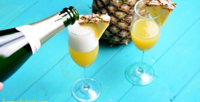 Hawaiian Pineapple Mimosas