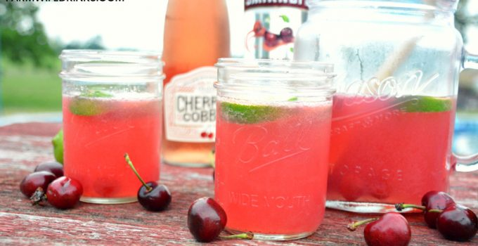 Cherry Limeade Sangria with Oliver Winery Cherry Cobbler Wine