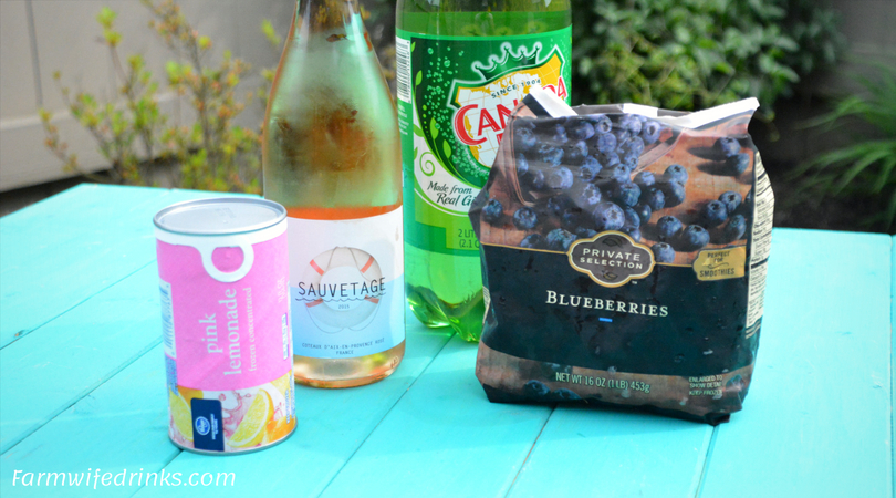 Rosé Spritzer - Lemonade Rosé Sangria - The Farmwife Drinks