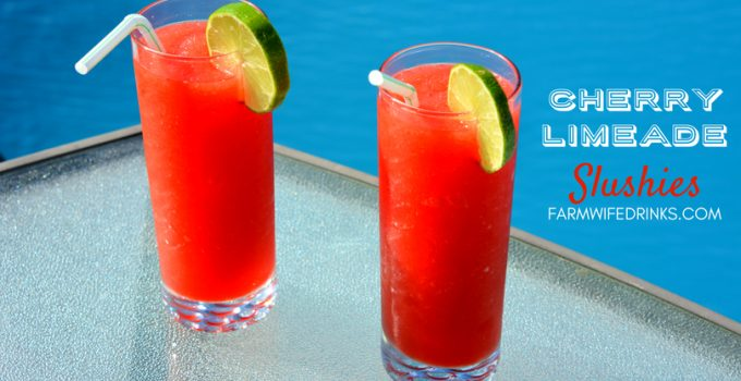 Cherry Limeade Slushies