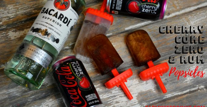 Cherry Coke and Rum Popsicles {Cherry Coke Zero} – Low Carb Boozy Popsicles