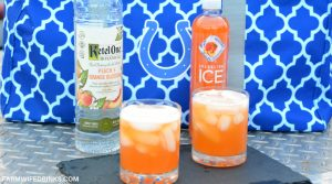 Low-Carb Sparkling Peach Cocktail with Ketel One Peach and Orange Blossom Vodka
