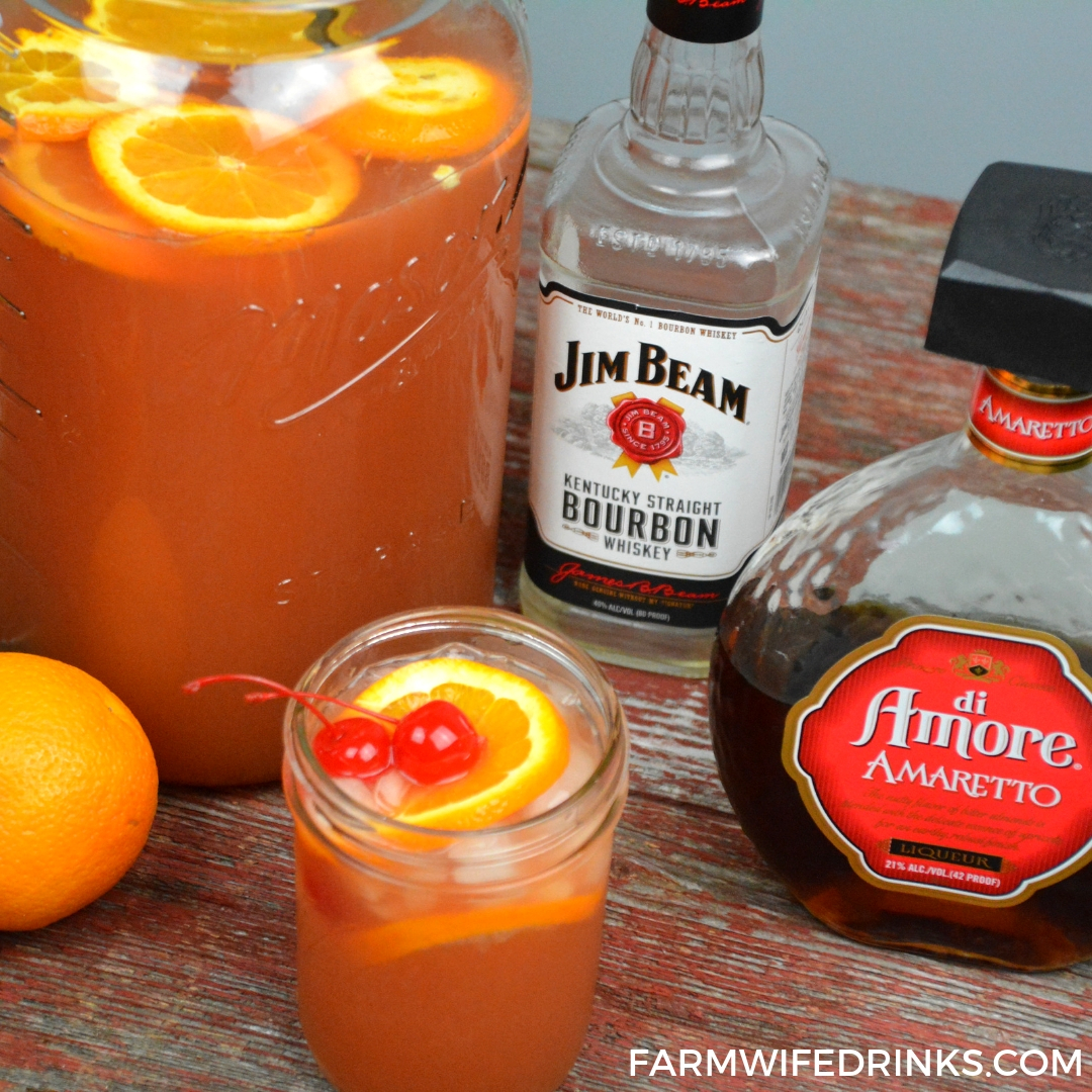 Amaretto Bourbon Punch
