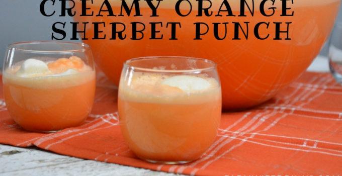 Orange Punch – Creamy Orange Sherbet Punch