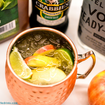 Apple Cider Moscow Mules Pitchers combine apple cider, ginger beer, and vodka to form the best cocktail to drink all fall long.