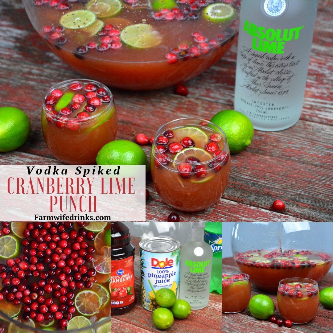 Vodka-Spiked Cranberry Lime Punch
