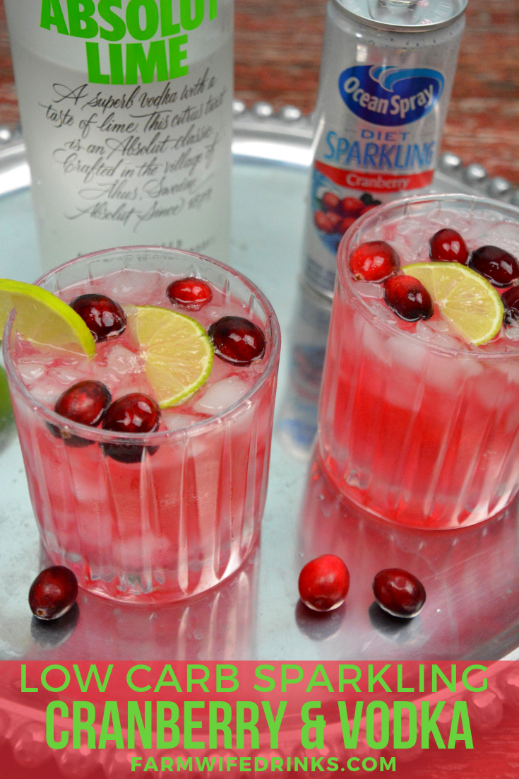Finally, I have the low carb cranberry and vodka I can have even on a low carb diet with this sparkling cranberry and vodka cocktail. #cranberryvodka #Vodka #cocktail #coktails #lowcarb
