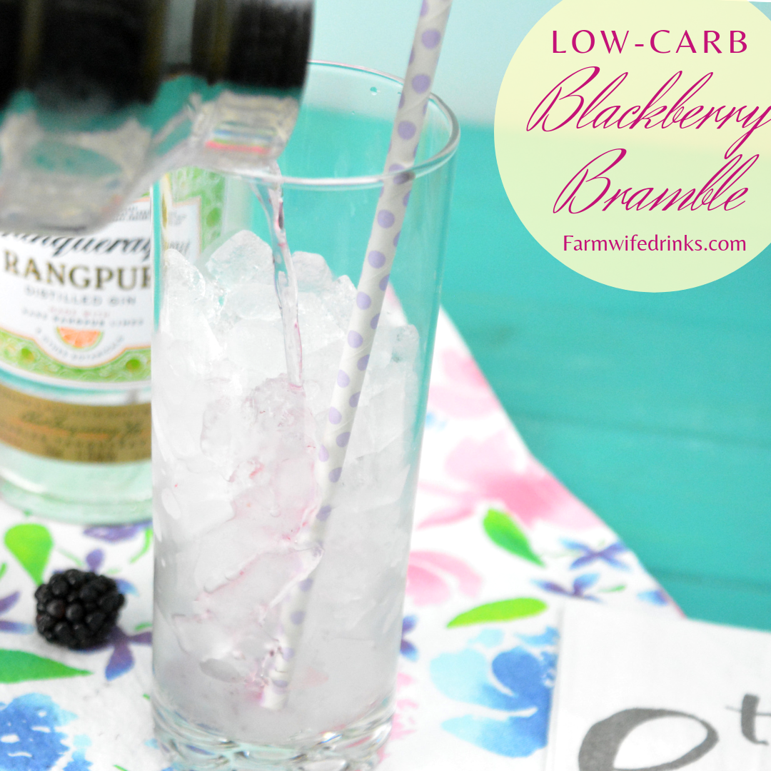 Low Carb Blackberry Bramble is a low carb blackberry lemonade gin cocktail combines sparkling ice lemonade and blackberry drinks with muddled blackberries and gin. #Cocktails #LowCarb #Gin #Blackberry #Lemonade