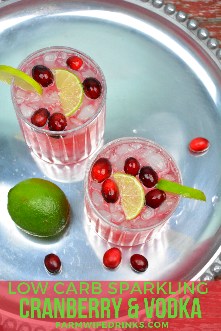 Low carb cranberry and vodka I can have even on a low carb diet with this sparkling cranberry and vodka cocktail. #cranberryvodka #Vodka #cocktail #coktails #lowcarb