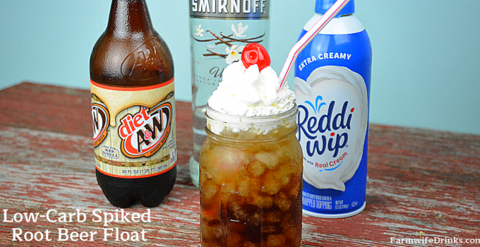 Keto Spiked Root Beer Floats